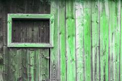 The old green wood texture with natural patterns Stock Photos