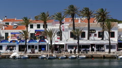 Attractive waterfront at Fornells, Minorca, Spain Stock Footage