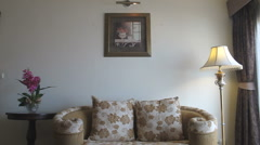 Living room interior - stock footage