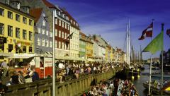 Nyhavn Copenhagen Denmark 4 Stock Footage