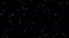 Twinkling stars - stock footage