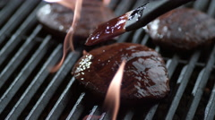 Steak barbeque, shot on Phantom Flex 4K - stock footage