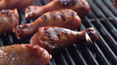 Barbeque chicken on grill, shot on Phantom Flex 4K - stock footage
