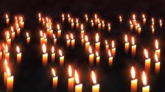 Candles Epic Background Animation Stock Footage