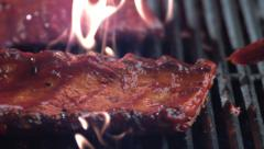 Barbeque ribs, shot on Phantom Flex 4K - stock footage