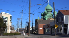 St. Theodosius cathedral in a Cleveland, Ohio neighborhood. Stock Footage