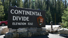Continental Divide, Yellowstone National Park Stock Footage