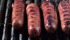 Hot dogs on grill, shot on Phantom Flex 4K Stock Footage