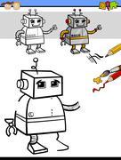 Stock Illustration of coloring task for children
