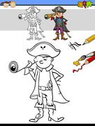 preschool drawing and coloring task - stock illustration