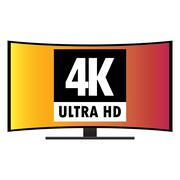 Stock Illustration of 4K Ultra HD Modern Curved Screen Smart TV