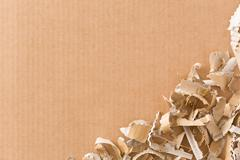 Cardboard and paper knife - stock photo