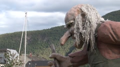 ANDALSNES , Troll at Port area, cruise ship docking area. Stock Footage