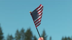 Waving American flag in slow motion, shot on Phantom Flex 4K - stock footage
