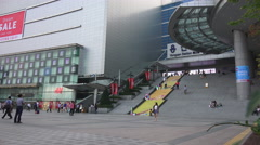 The Stairs On Yongsan Station With Busy Pedestrians Stock Footage