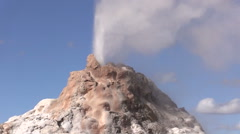 Great Fountain Geyser Zoom Out Stock Footage