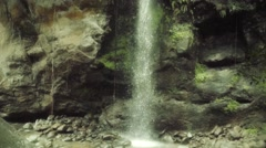 Crystalline waterfall - stock footage