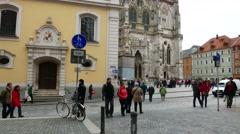 Historic architecture in Regensburg Stock Footage