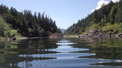 Ripples on a river in Oregon Stock Footage