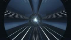 Futuristic Tunnels Loop – Dark Blue Metal - stock footage