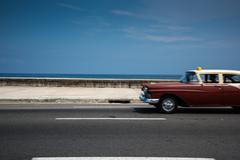 Stock Photo of Classic american car on street of Havana in Cuba