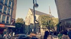 Cologne Downtown Appellhofplatz Stock Footage