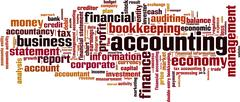 Stock Illustration of Accounting word cloud