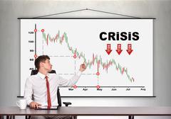 Decreasing stock chart Stock Photos
