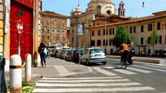 Street scene in Rome Stock Footage