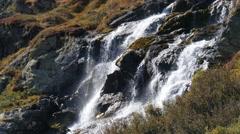 Medium Shot Natural waterfall Stock Footage