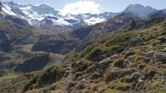 Mountain Landscape in austria Stock Footage
