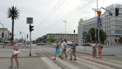 Stock Video Footage of Roundabout of Charles de Gaulle in Warsaw
