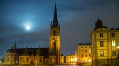The Riddarholm Church, Stockholm, Sweden Stock Footage