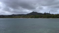 South Pacific Island View Cloudy Day Stock Footage