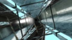 Futuristic Tunnels Loop – Turning Reflecting Stock Footage