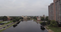 Norfolk Aerial Hotel Stock Footage