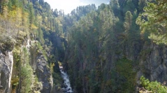Natural chasm in austria Stock Footage