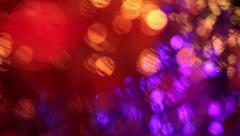Multicolored lights with bokeh, defocused motion abstract background - stock footage