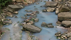 Mountain river Agura on the territory of the Khosta district of Sochi Stock Footage