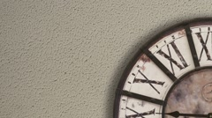 Old fashioned clock, timelapse  - stock footage