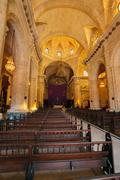Interior of Havana Cathedral of The Virgin Mary (1748-1777), Cuba - stock photo