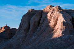 Sandstone Texture Badlands National Park at Sunset - stock photo