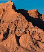 Sandstone Texture Badlands National Park at Sunset Stock Photos