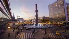 Sergels torg, Stockholm, Sweden Stock Footage