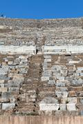 Greek-Roman amphitheater in  the ancient  city Ephesus - stock photo