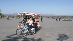 City of Datong (Shanxi, China) 07 People resting Stock Footage