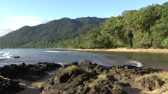 Nosy Managbe beach view late afternoon 2 Stock Footage