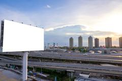 Large Blank billboard ready for new advertisement. Stock Photos