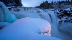 Tännforsen, the largest waterfall in Sweden Stock Footage