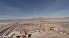 Aerial Utah Salt Flats Stock Footage